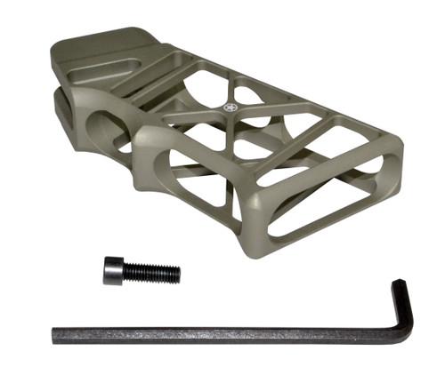 AR Lightweight Skeletonized Rear Pistol Style Grip, Tan Anodized Aluminum