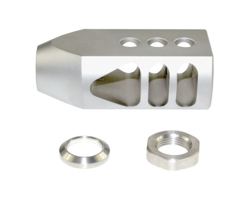 "Competition Grade Muzzle Brake Recoil Compensator for AR-10 .LR 308, 5/8""x24 thread, Stainless Steel Matte"