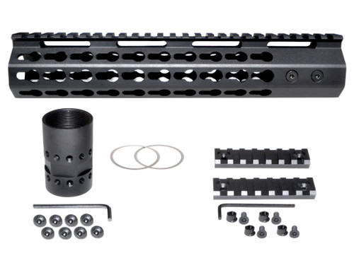 "10.187"" Mid Length Keymod Free Float Handguard for 223/5.56"