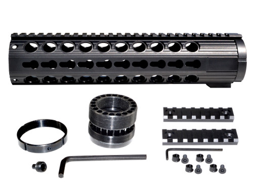 "10.437"" Free Float Keymod Handguard for LR 308 Low Profile, Large 1.935"" ID"
