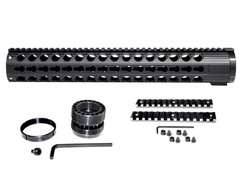"15.187"" Free Float Keymod Handguard for LR 308 Low Profile, Large 1.935"" ID"