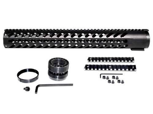 "16.312"" Free Float Keymod Handguard for 223/5.56, Large 1.75"" ID"