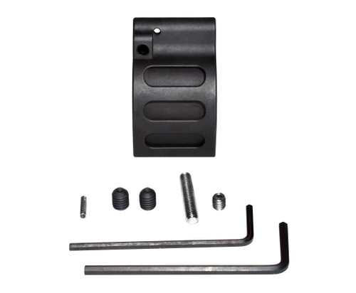 "Adjustable Low Profile Gas Block, 0.875"" Black Steel (GBA875)"