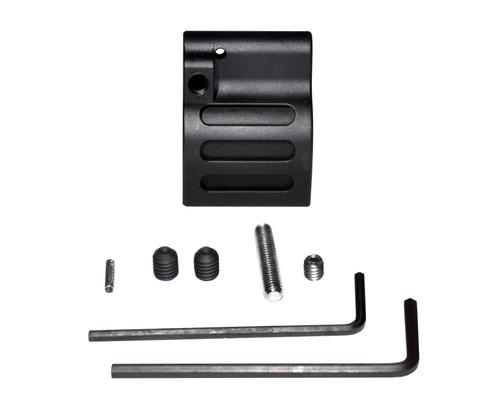 "Adjustable Low Profile Gas Block, 0.625"" Black Steel (GBA625)"