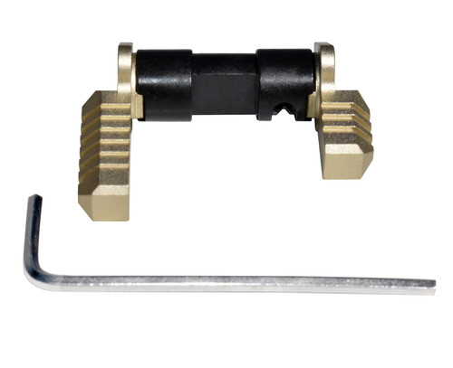 AR Aluminum and Steel Ambidextrous Safety Selector Switch, Gold
