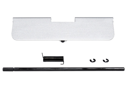 AR-15 Aluminum Ejection Port Dust Cover Assembly, Silver