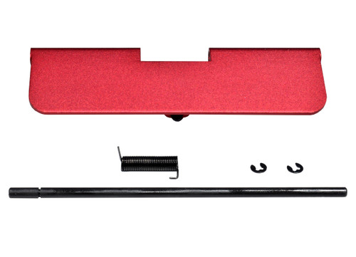 AR-15 Aluminum Ejection Port Dust Cover Assembly, Red