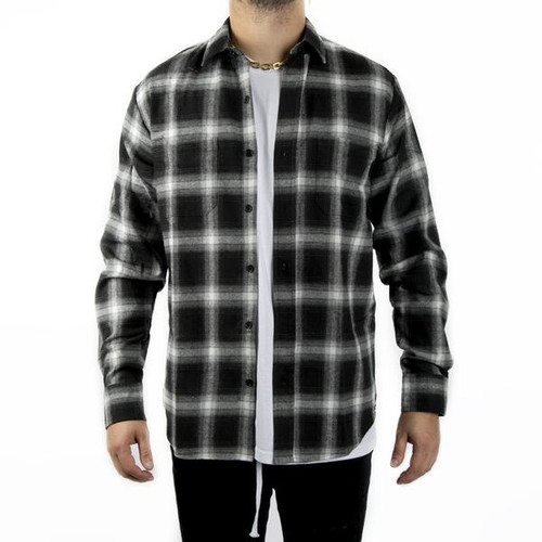 HK - Collide - Flannel Long Sleeve - Black