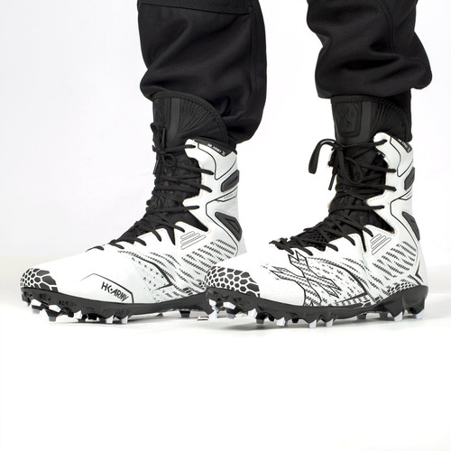 HK - 1.5 Diggerz High Top Cleats - White/Black