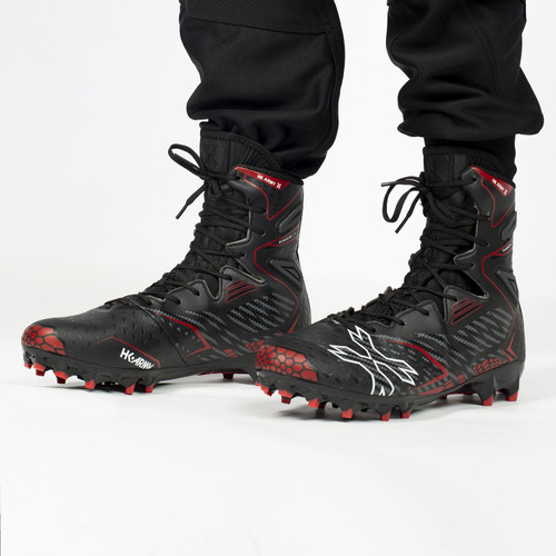 HK - 1.5 Diggerz High Top Cleats - Black/Red