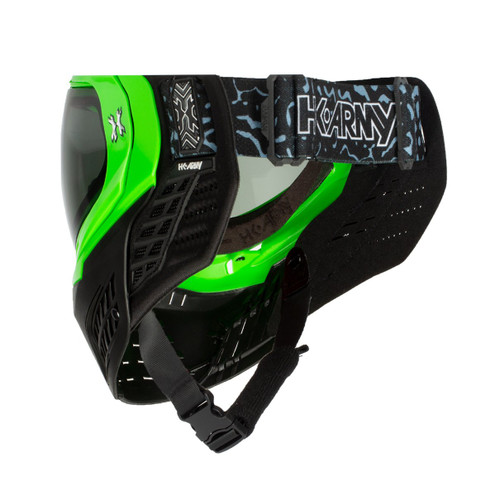 HK - KLR Goggle - Blackout Neon Green