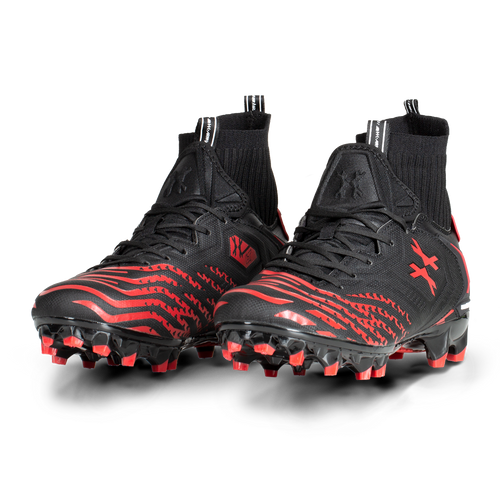 HK - LT Diggerz X1 - Low Top Cleats - Black/Red