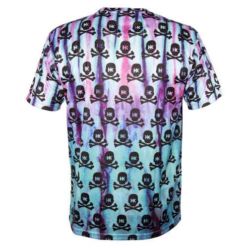 HK - DryFit - All Over Tie Dye Skulls