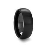 Toxeus Round Brushed Black Ceramic Ring from Vansweden Jewelers