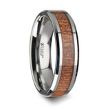 Aloeus Tungsten Wedding Band with African Sapele Wood Inlay from Vansweden Jewelers