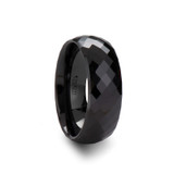 Trambelus Black Ceramic Ring with 288 Diamond Facets from Vansweden Jewelers