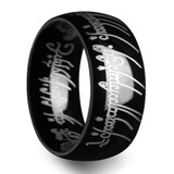 Nemesis Lord of the Rings Black Tungsten Wedding Band