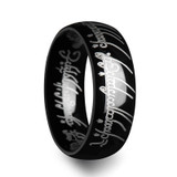 Nemesis Lord of the Rings Black Tungsten Wedding Band from Vansweden Jewelers
