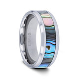 Asterodia Tungsten Carbide Ring with Mother of Pearl Inlay from Vansweden Jewelers