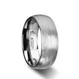 Ceto Textured Tungsten Carbide Wedding Band Set - 8MM