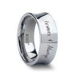 Aegea Custom Handwriting Engraved Concave Women's Tungsten Wedding Band