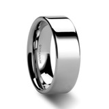 Pemphredo Polished Flat Men's Titanium Wedding Ring from Vansweden Jewelers