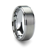 Podarge Brushed Men's Titanium Wedding Ring with Raised Center from Vansweden Jewelers