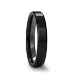 Ixion Beveled Black Ceramic Ring with Polished Finish from Vansweden Jewelers