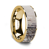 Pindar 14K Yellow Gold Wedding Band with Ombre Deer Antler Inlay from Vansweden Jewelers
