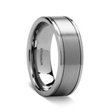 Crates Pipe Cut Brushed Titanium Ring from Vansweden Jewelers
