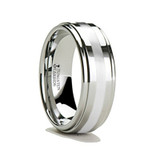 Phormio Raised Center Tungsten Carbide Ring with Palladium Inlay from Vansweden Jewelers