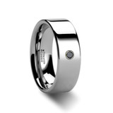 Strato Tungsten Carbide Black Diamond Wedding Band from Vansweden Jewelers
