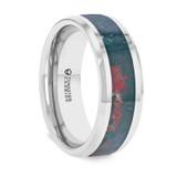 Menaechmus Bloodstone Inlay Tungsten Carbide Wedding Band from Vansweden Jewelers