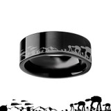 Star Wars Hoth Battle Engraved Black Tungsten Ring from Vansweden Jewelers