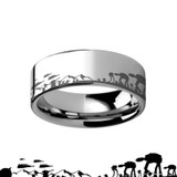 Star Wars Hoth Battle Engraved Tungsten Ring from Vansweden Jewelers