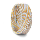 Alypius Gold Damascus Steel Men's Wedding Band from Vansweden Jewelers