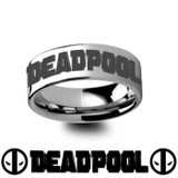 Deadpool Engraved Tungsten Wedding Band from Vansweden Jewelers