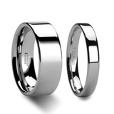 Polished Tungsten Carbide Couple's Matching Wedding Band Set