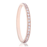Daphne Rose Gold Titanium Women's Wedding Band with Diamonds from Vansweden Jewelers