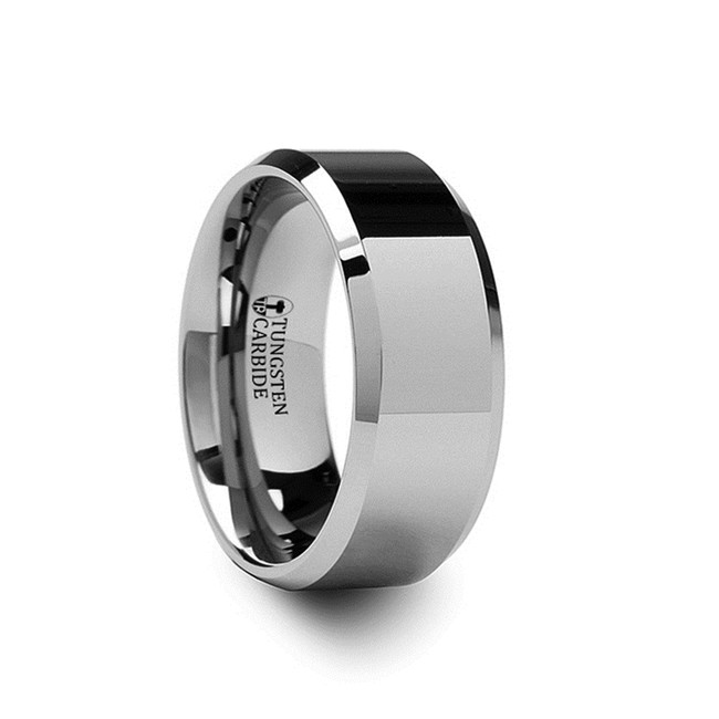 Agave Beveled Tungsten Carbide Ring from Vansweden Jewelers