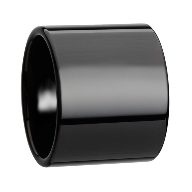 Procrustes Black Flat Pipe Cut Tungsten Carbide Ring with Polished Finish from Vansweden Jewelers