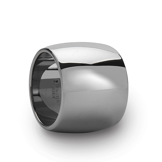 Termerus Round Polished Finish Tungsten Carbide Ring from Vansweden Jewelers