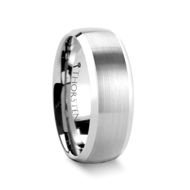 Aphrodite Rounded Brushed Tungsten Carbide Ring from Vansweden Jewelers