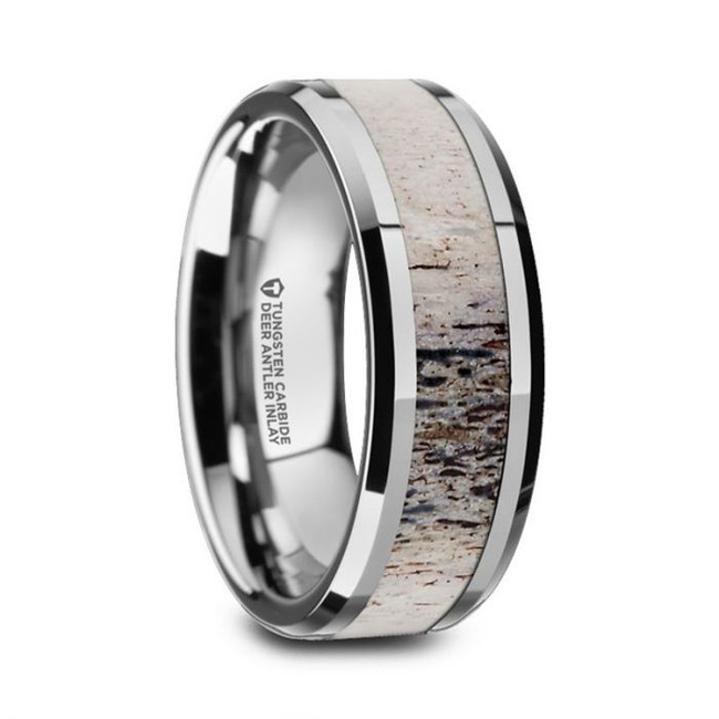 Berenice Tungsten Men's Wedding Band with Ombre Deer Antler Inlay from Vansweden Jewelers