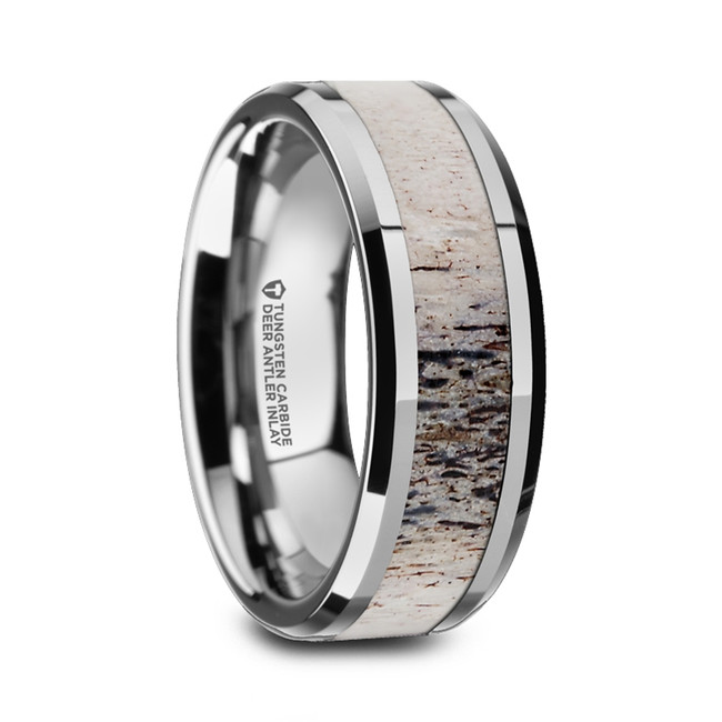 Meton Tungsten Carbide Men's Wedding Band with Ombre Deer Antler Inlay from Vansweden Jewelers