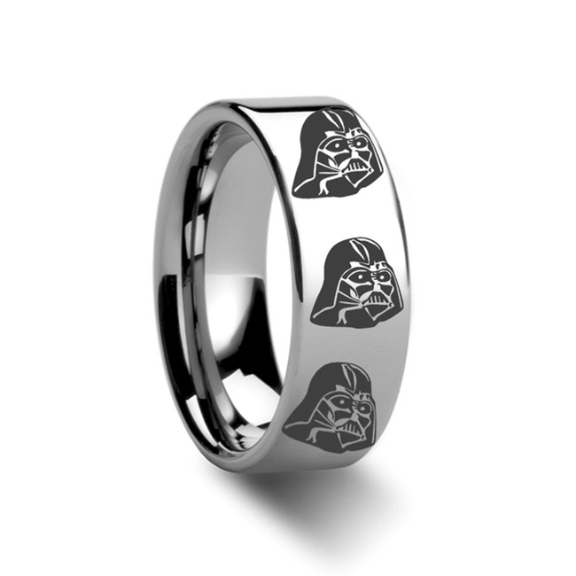 Star Wars Darth Vader Engraved Tungsten Ring from Vansweden Jewelers