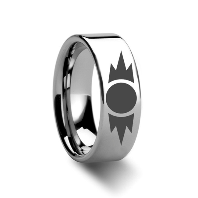 Star Wars Sith Emblem Tungsten Engraved Ring from Vansweden Jewelers