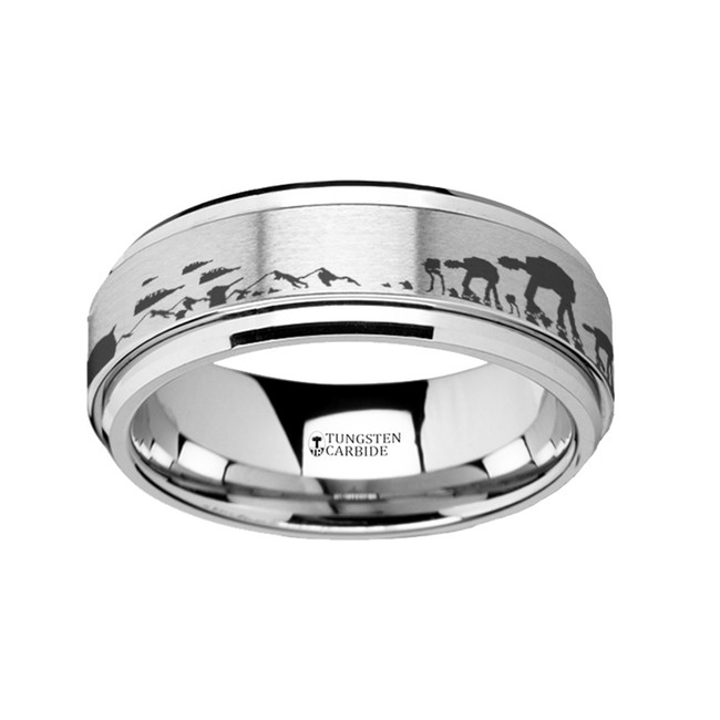 Star Wars Engraved Tungsten Carbide Spinner Wedding Band from Vansweden Jewelers
