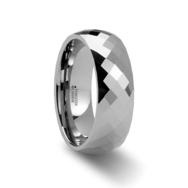 Agrippa Diamond Faceted Tungsten Wedding Band from Vansweden Jewelers