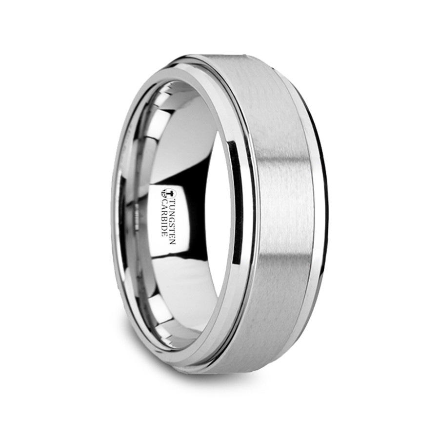 Chronos Tungsten Carbide Spinner Ring Spinning Wedding Band From Vansweden Jewelers